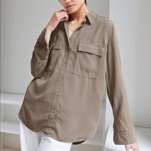 Babaton Utility Button-Up Shirt Size S